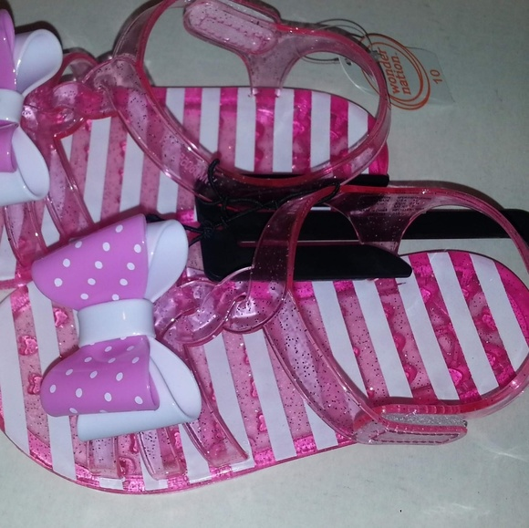 b097fe0e2 Wonder Nation Toddler Girls Jelly Sandals Size 10